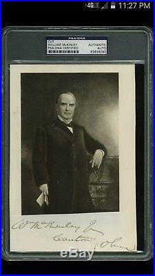 William McKinley Autograph PSA/DNA Authentic