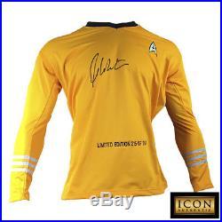 William Shatner Signed Autograph Star Trek Captain Kirk Shirt Uniform Psa/dna