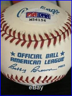 Willie Mays Autographed Official American League Rawlings Baseball- Psa/dna