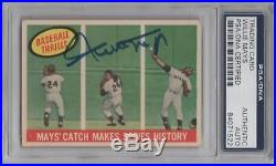 Willie Mays Psa/dna Certified Authentic 1959 Topps Signed Card #464 Autographed