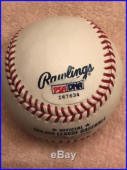 Willie McCovey Signed HOF 86 Baseball PSA DNA Giants Autograph Auto Insc