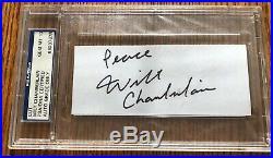 Wilt Chamberlain Autographed Cut Inscribed Peace GemMint 10 PSA/DNA No Reserve