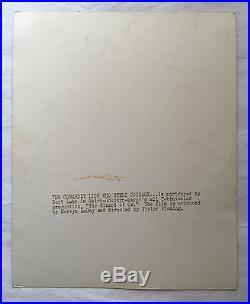 Wizard Of Oz Bert Lahr Signed Photo As The Cowardly Lion Coa Psa/dna Autograph