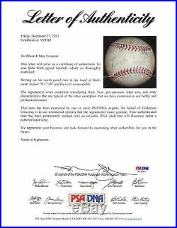 Yankees Babe Ruth Authentic Signed Baseball Autographed PSA/DNA #V03362